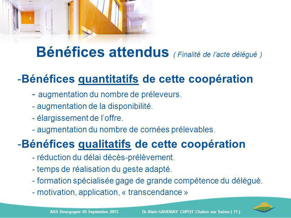 -Bénéfices quantitatifs de cette coopération - augmentation du nombre de préleveurs. - augmentation de la disponibilité. - élargissement de l'offre. -