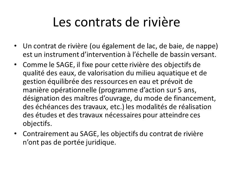 Textes de référence Circulaire ministérielle n°3 du 30 janvier 2004 relative aux contrats de rivière et de baie Note établie par le Comité National d'Agrément sur la démarche (Oct 2003)