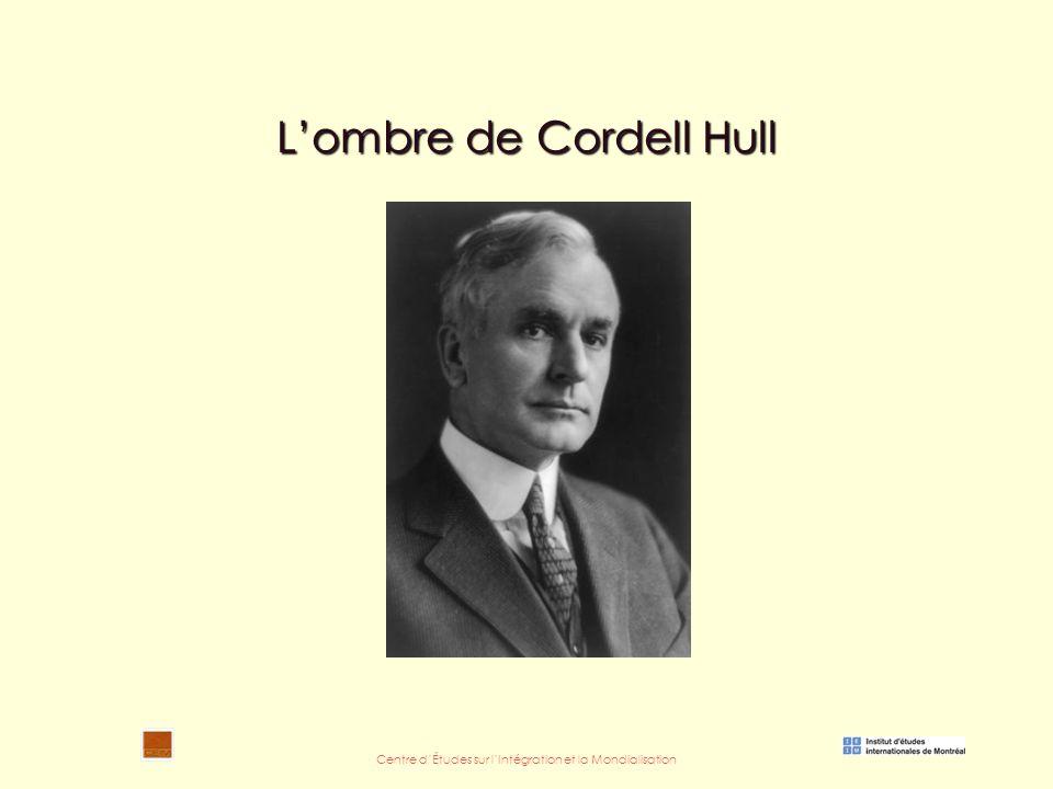 Centre d'Études sur l'Intégration et la Mondialisation L'ombre de Cordell Hull