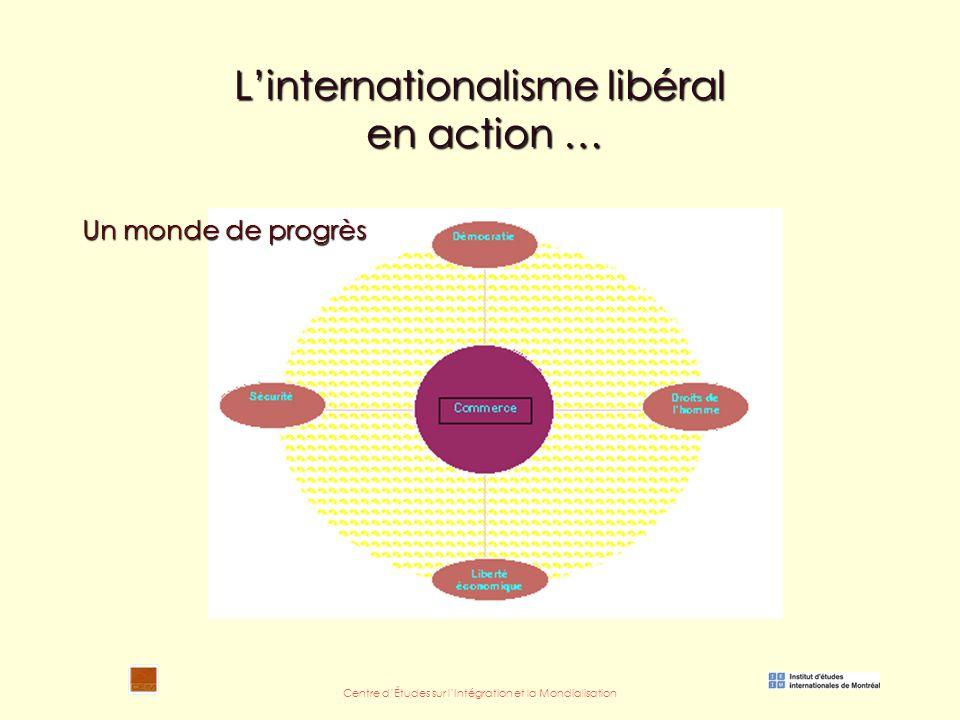 Centre d'Études sur l'Intégration et la Mondialisation L'internationalisme libéral en action … Un monde de progrès
