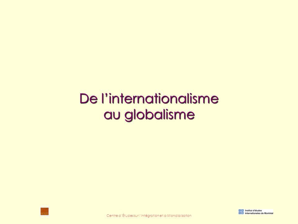 Centre d'Études sur l'Intégration et la Mondialisation De l'internationalisme au globalisme