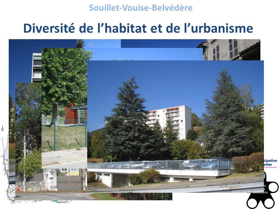 Souillet-Vouise-Belvédère Diversité de l'habitat et de l'urbanisme