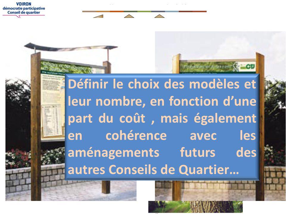 Souillet-Vouise-Belvédère Signalisation et balisage des Sentiers du secteur VOUISE Définir le choix des modèles et leur nombre, en fonction d'une part du coût, mais également en cohérence avec les aménagements futurs des autres Conseils de Quartier…