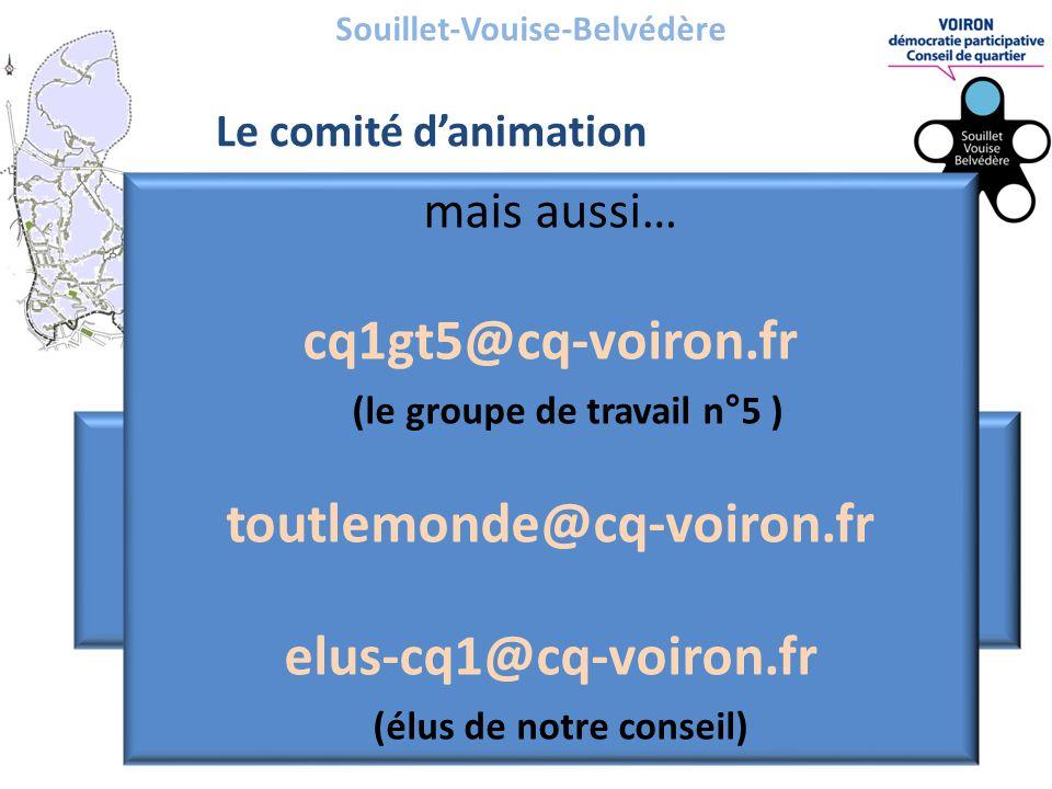 Souillet-Vouise-Belvédère Le comité d'animation.