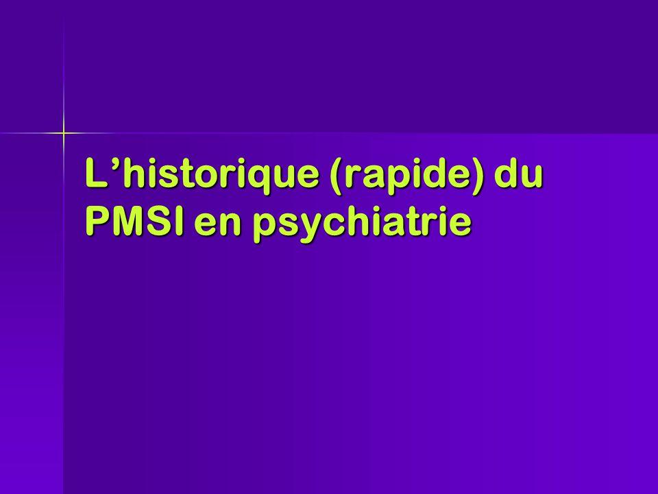 L'historique (rapide) du PMSI en psychiatrie