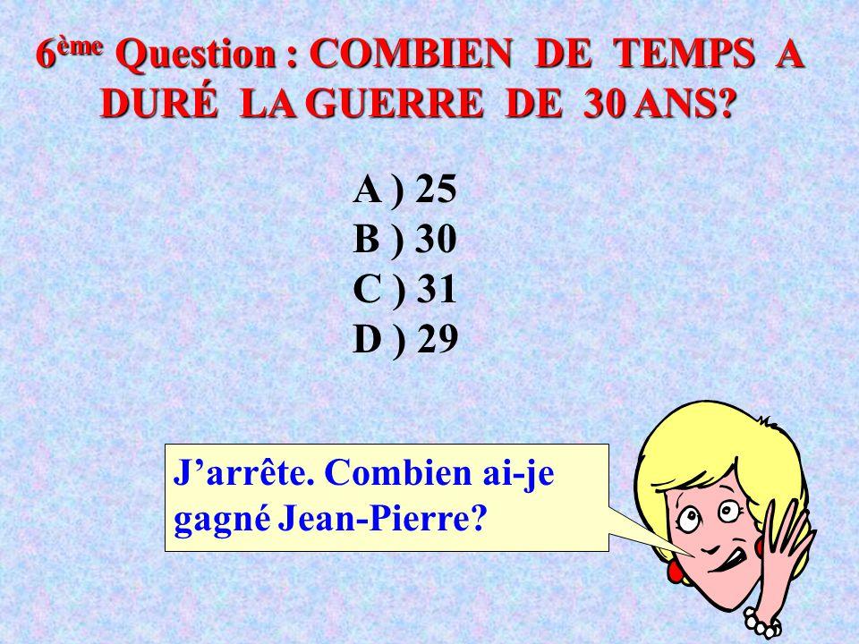5 ème Question : DE QUEL ANIMAL LES ÎLES CANARIES TIRENT-ELLES LEUR NOM? J' appelle un ami ! A ) CANARI B ) HIBOU C ) CHIEN D ) RAT