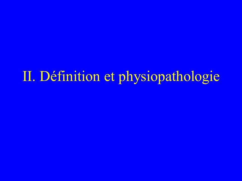 II. Définition et physiopathologie