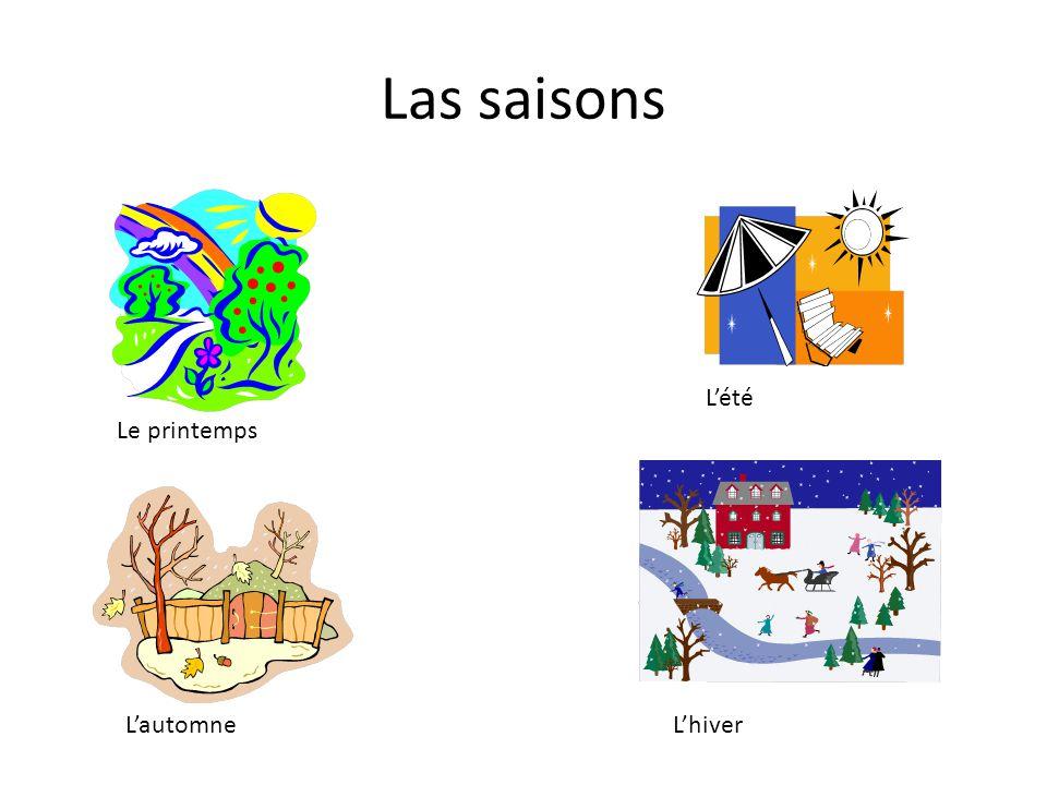 Las saisons Le printemps L'été L'automneL'hiver