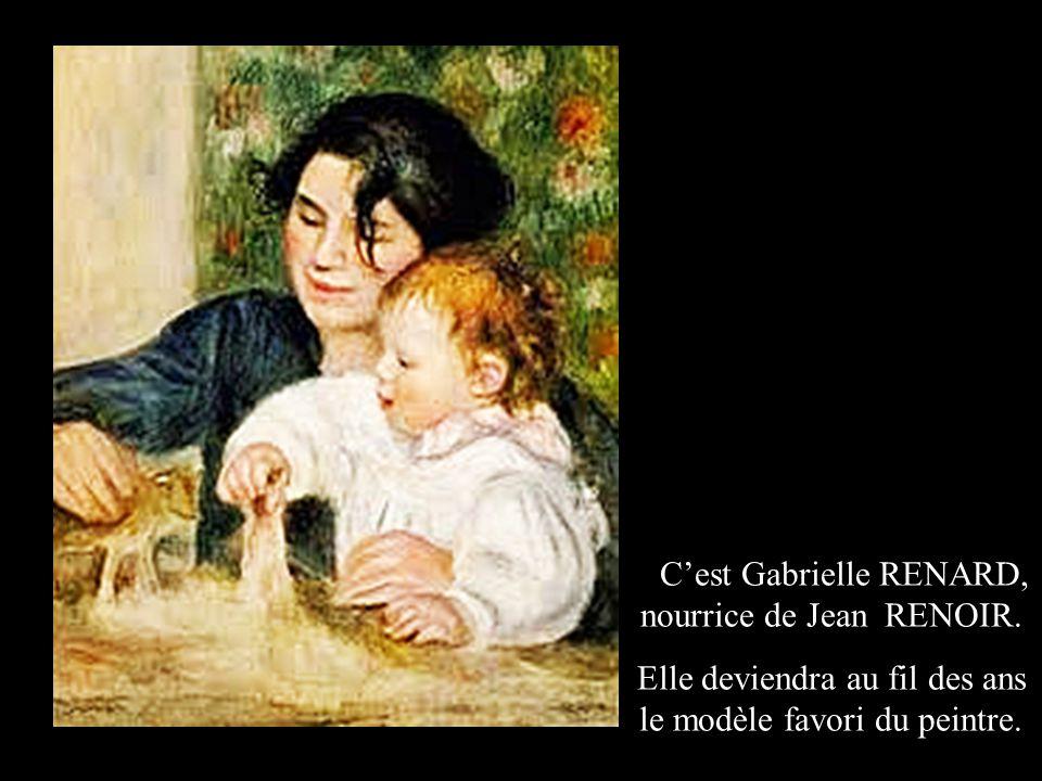 C'est Camille MONET qui est représentée avec Jean, le fils de RENOIR