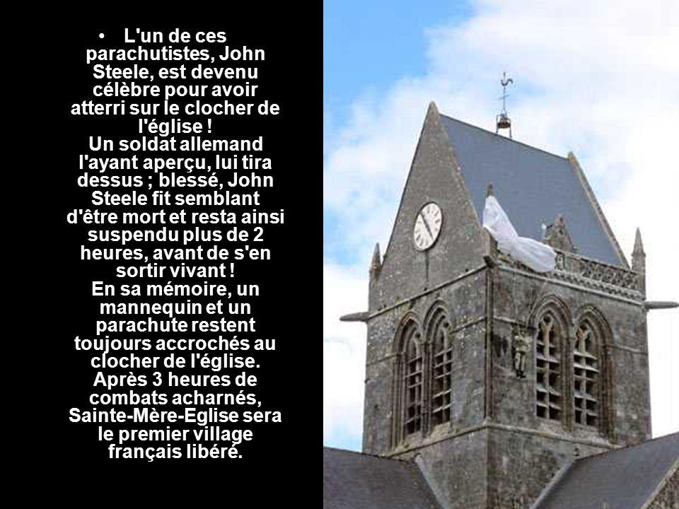 A 75 km de là, Sainte-Mère-Eglise, village tranquille situé à l intérieur des terres normandes.