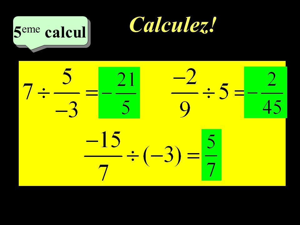Calculez! –1–1 4 eme calcul