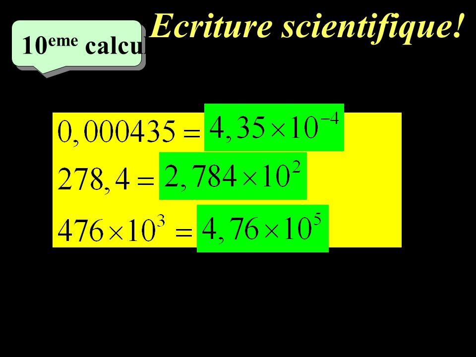 –1–1 9 eme calcul Ecrire sous forme a n