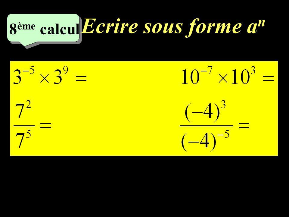 Calculez! 5 eme calcul 5 eme calcul 7 eme calcul
