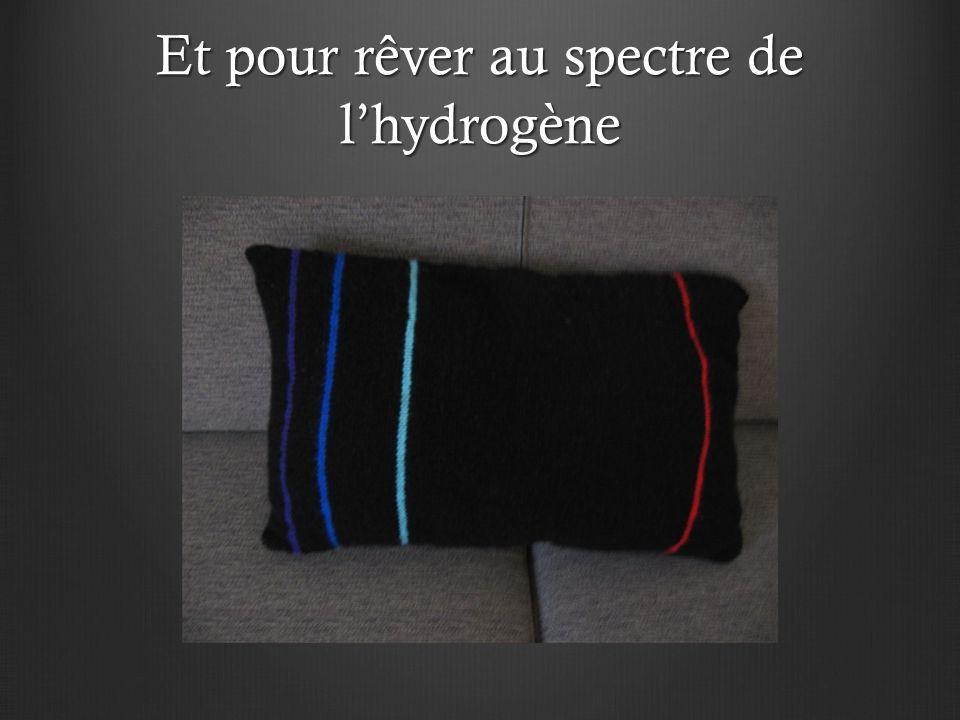 Et pour rêver au spectre de l'hydrogène