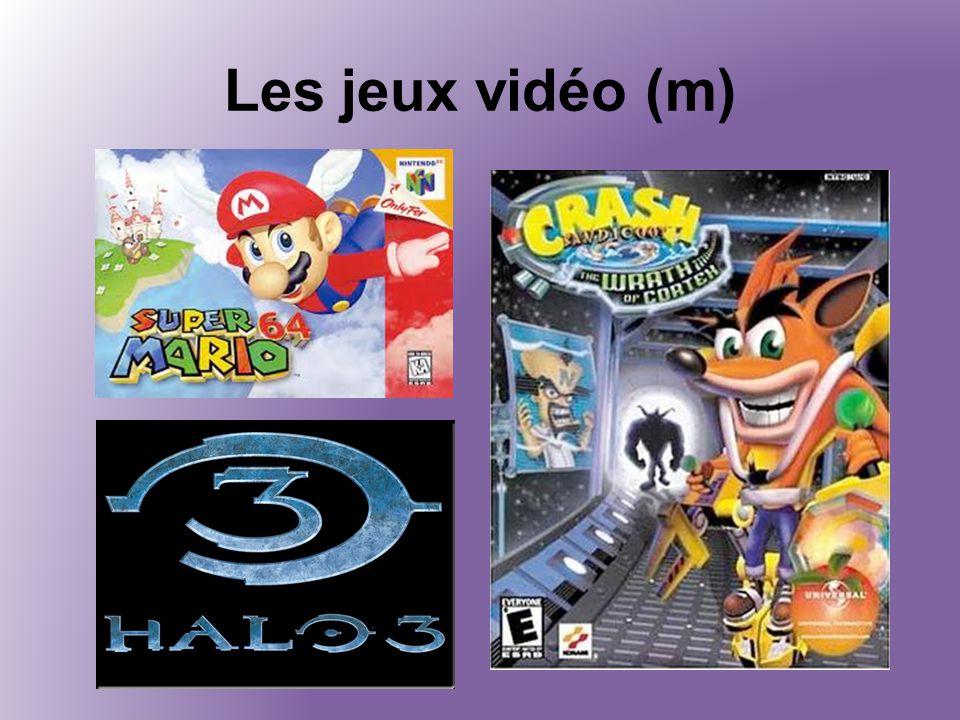 Les jeux vidéo (m)