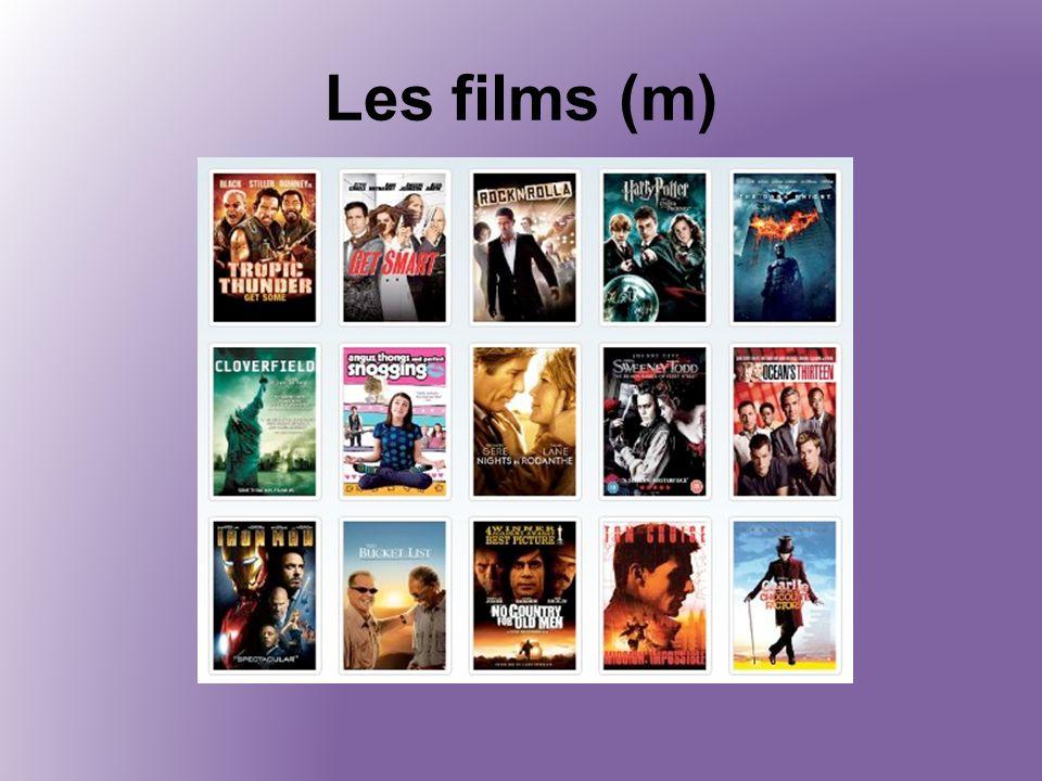 Les films (m)