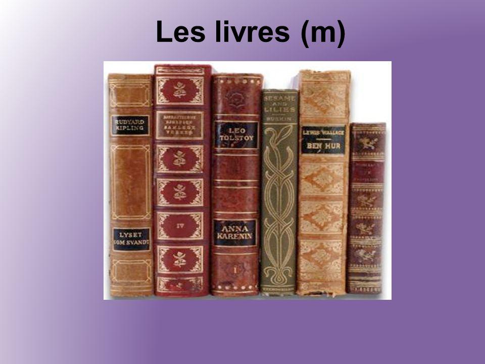 Les livres (m)