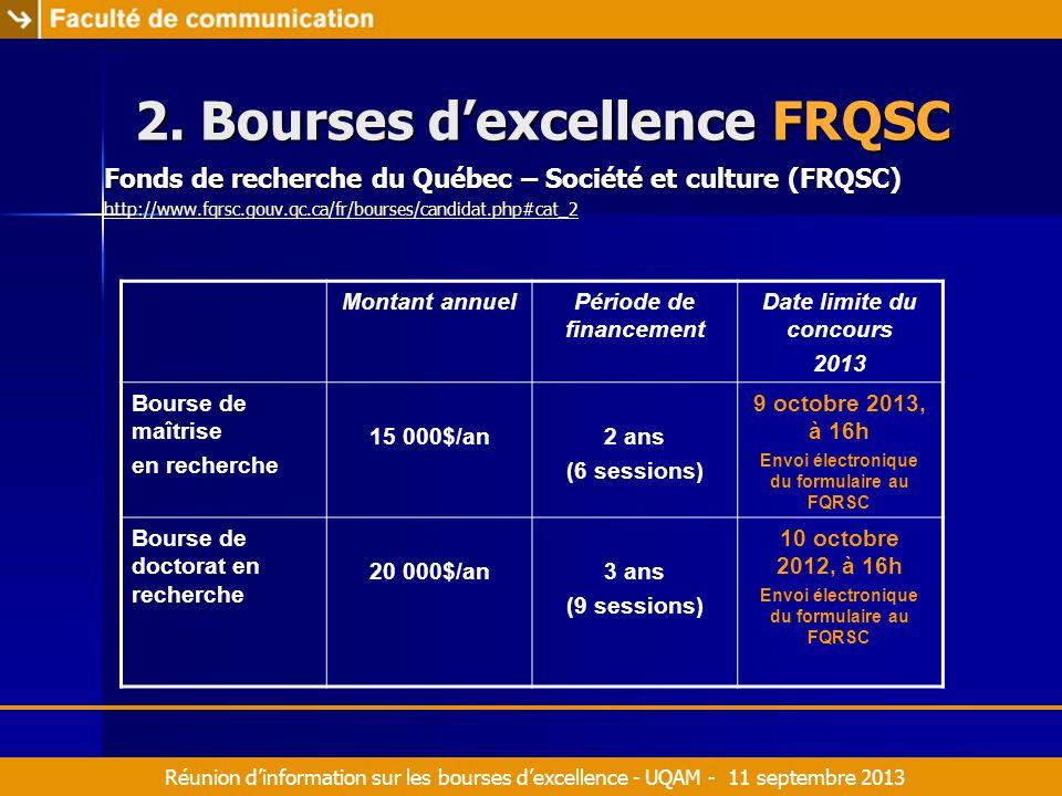 Réunion d'information sur les bourses d'excellence - UQAM - 11 septembre 2013 2.
