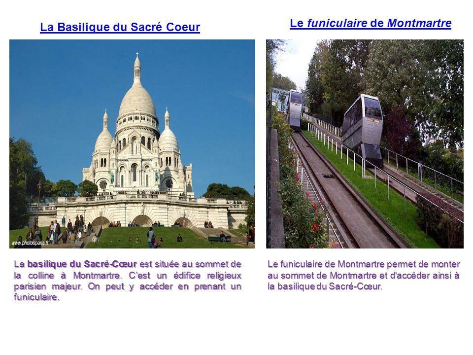 La Basilique du Sacré Coeur La basilique du Sacré-Cœur est située au sommet de la colline à Montmartre. C'est un édifice religieux parisien majeur. On