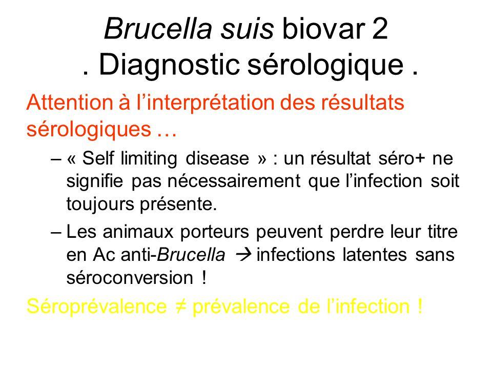 Attention à l'interprétation des résultats sérologiques … –« Self limiting disease » : un résultat séro+ ne signifie pas nécessairement que l'infectio