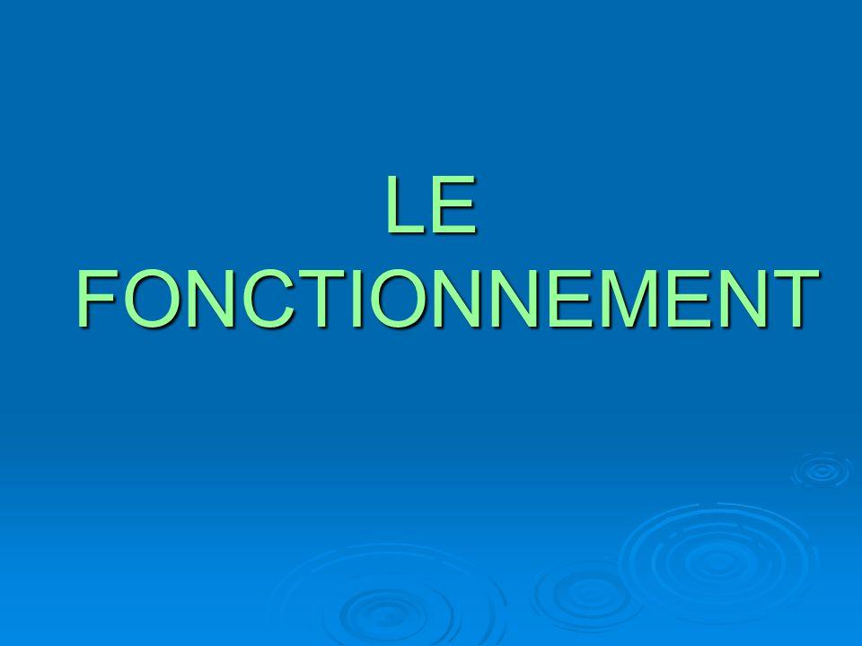 LE FONCTIONNEMENT