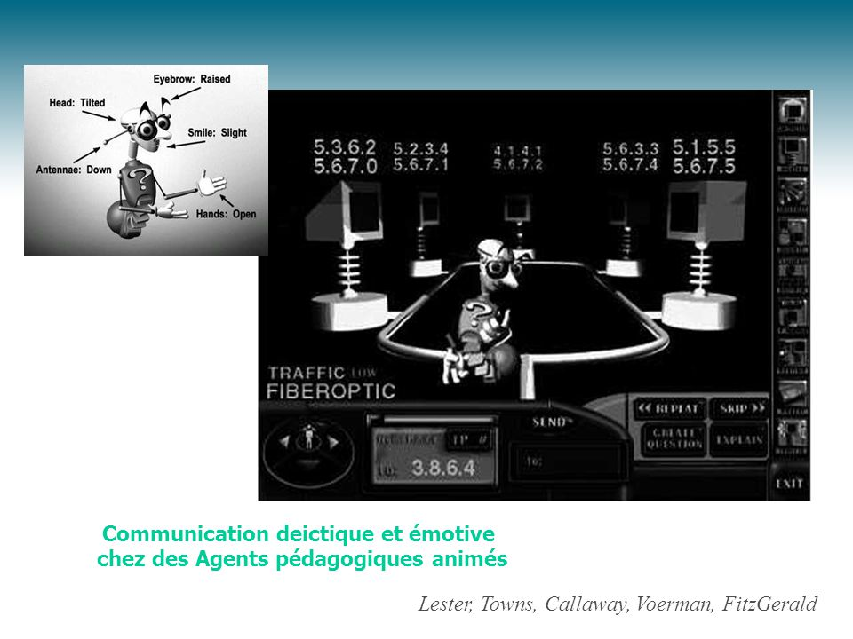 Lester, Towns, Callaway, Voerman, FitzGerald Communication deictique et émotive chez des Agents pédagogiques animés