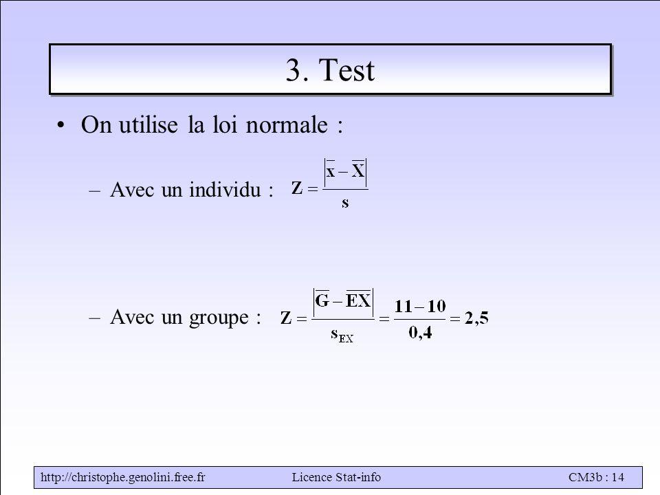 http://christophe.genolini.free.frLicence Stat-infoCM3b : 14 3.
