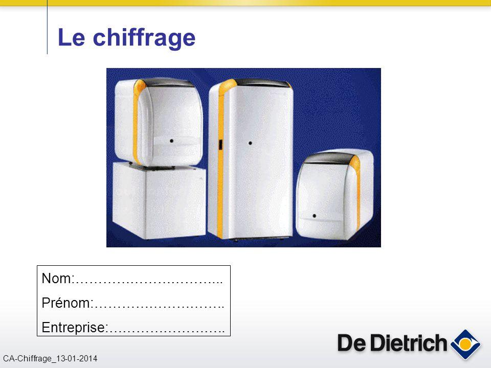 CN 02/11/2004 CA-Chiffrage_13-01-2014 Le chiffrage Nom:…………………………... Prénom:……………………….. Entreprise:……………………..