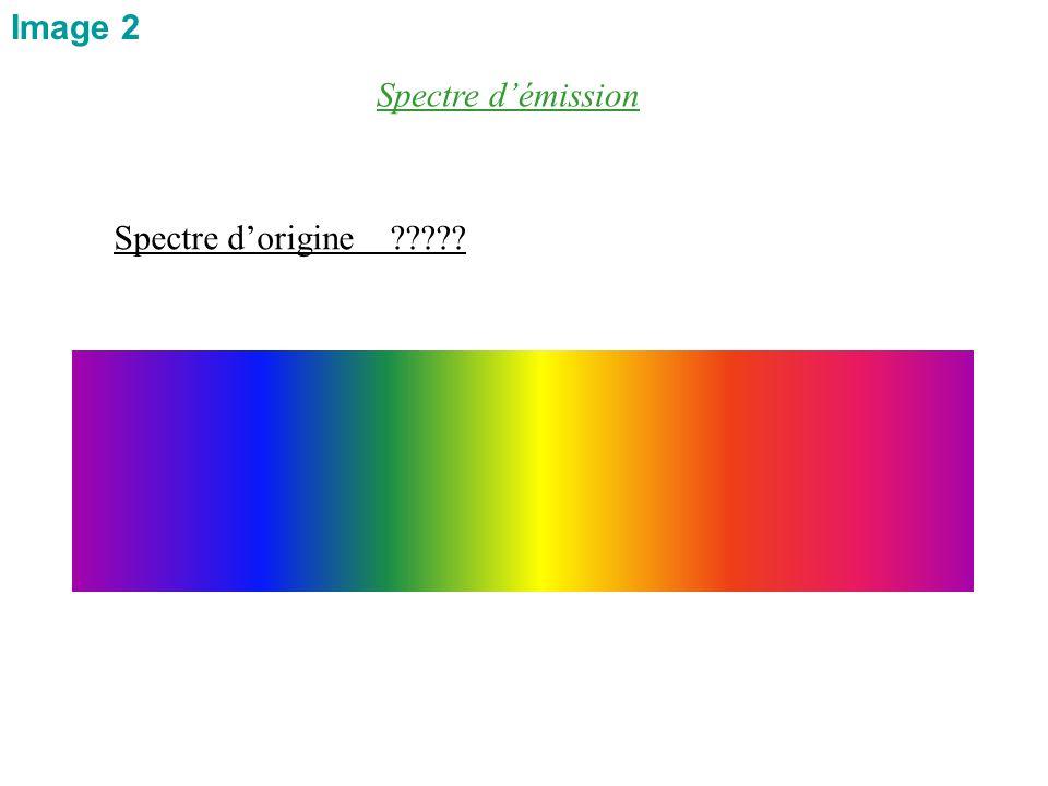 Spectre d'origine ????? Spectre d'émission Image 2
