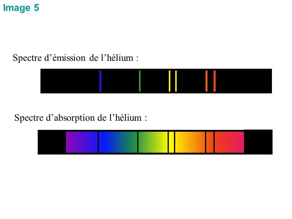 Spectre d'absorption de l'hélium : Spectre d'émission de l'hélium : Image 5