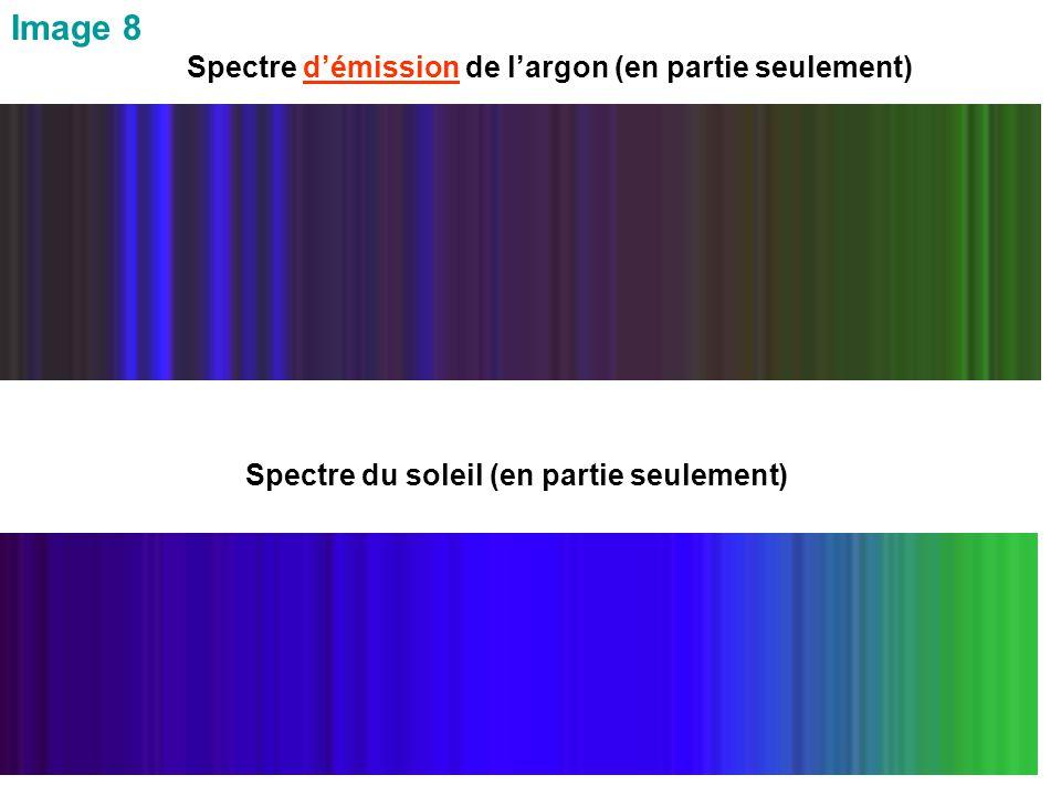 Image 8 Spectre d'émission de l'argon (en partie seulement) Spectre du soleil (en partie seulement)