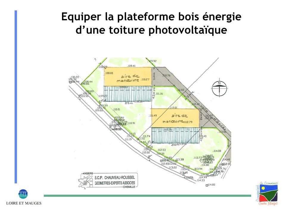 Equiper la plateforme bois énergie d'une toiture photovoltaïque