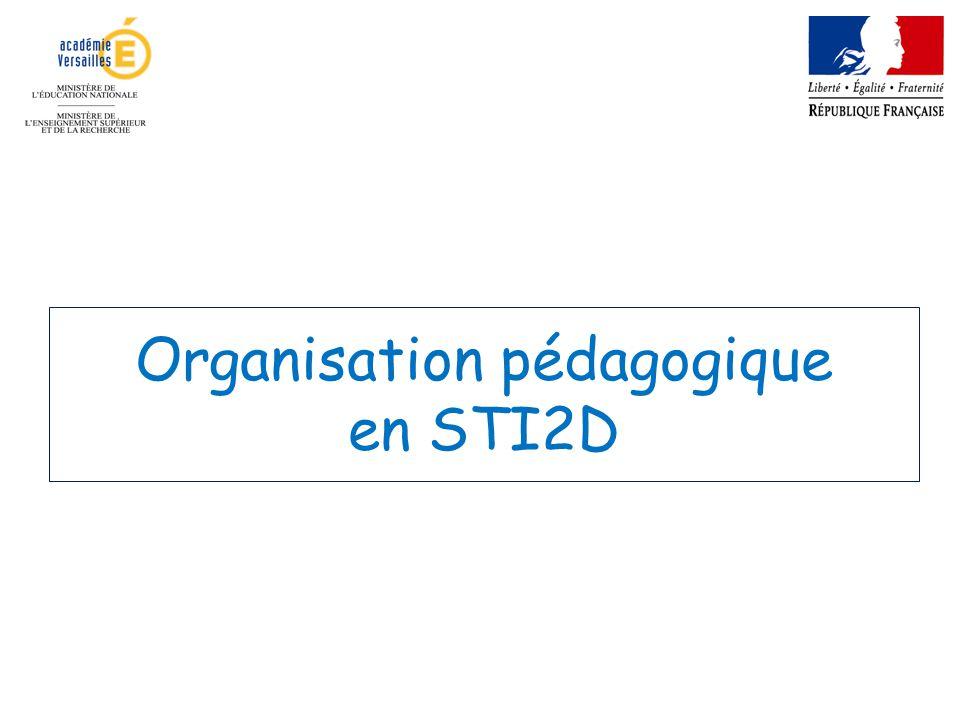 Organisation pédagogique en STI2D