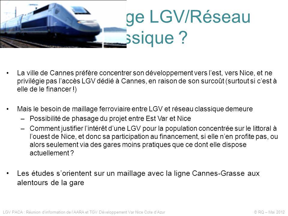 Quel maillage LGV/Réseau classique .