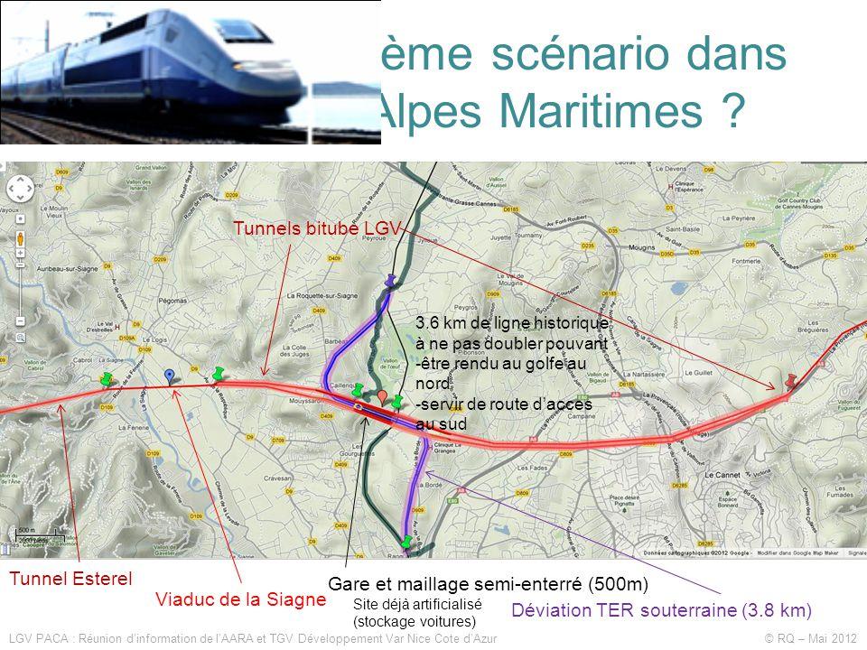 Vers un cinquième scénario dans l'ouest des Alpes Maritimes .