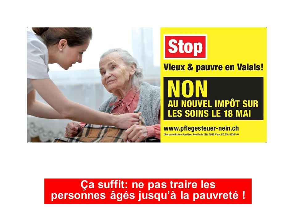 Ça suffit: ne pas traire les personnes âgés jusqu'à la pauvreté !