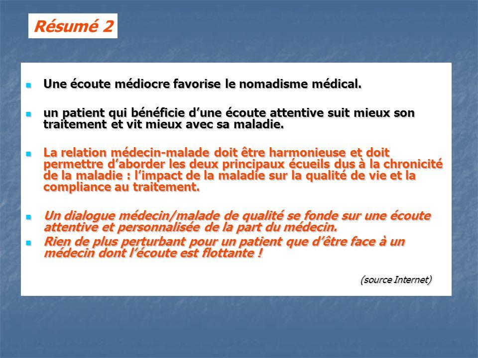 Une écoute médiocre favorise le nomadisme médical.