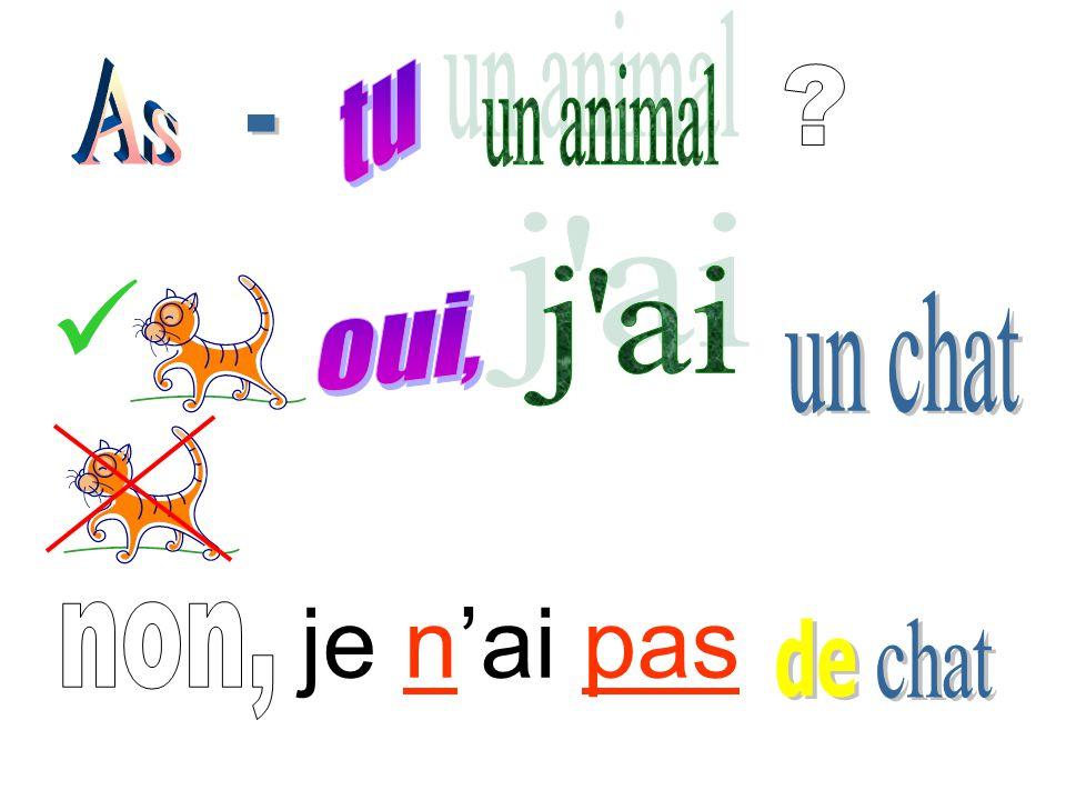 C) Coloriez les animaux: 1. J'ai un oiseau bleu et vert. 2. J'ai une souris blanche. 3. J'ai un chat noir et blanc. 4. J'ai une tortue grise. 5. J'ai
