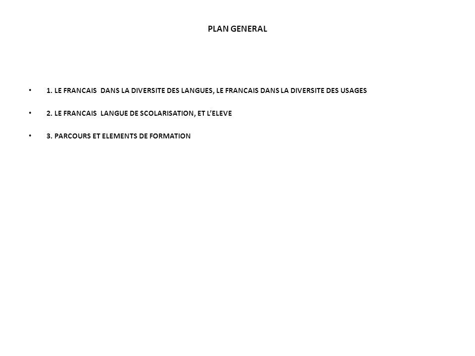 PLAN GENERAL 1.