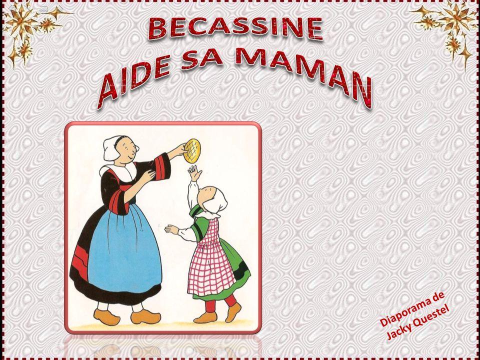 Ces illustrations, ainsi que la trame du texte, sont extraites d'un livre également intitulé « Bécassine aide sa maman », par Cama- ry/Pinchon, des Editions Gautier-Languereau.