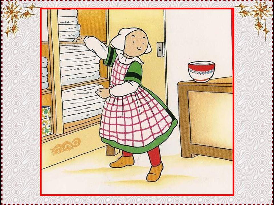 Et je vais mettre ce fromage blanc à l'abri, à côté des draps blancs ! C'est maman qui va être contente !