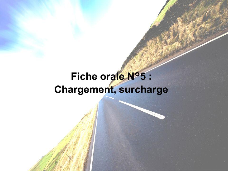 Chargement : Le chargement est de la responsabilité du conducteur (marchandises).