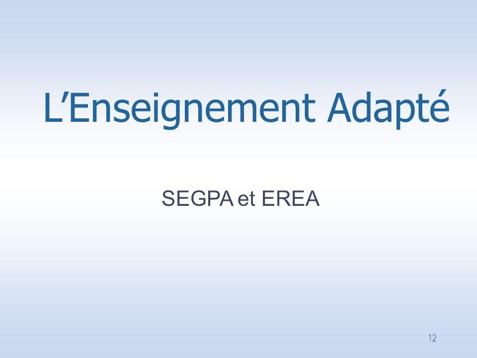 12 SEGPA et EREA L'Enseignement Adapté