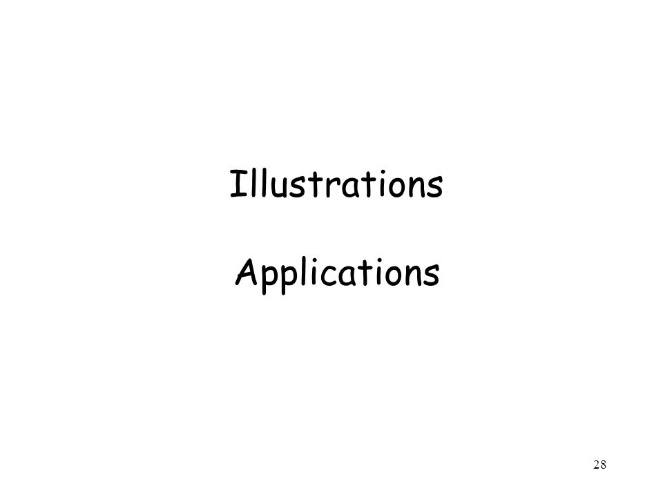 28 Illustrations Applications