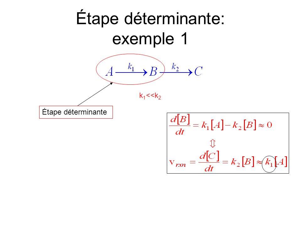 Étape déterminante: exemple 1 k 1 <<k 2 Étape déterminante