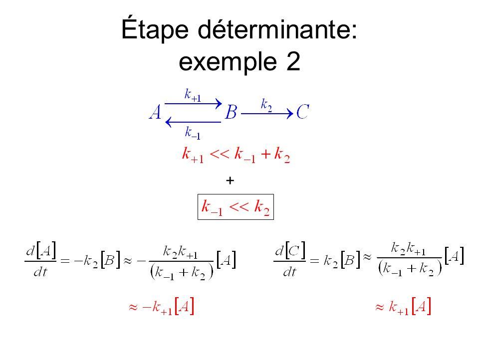 Étape déterminante: exemple 2 +