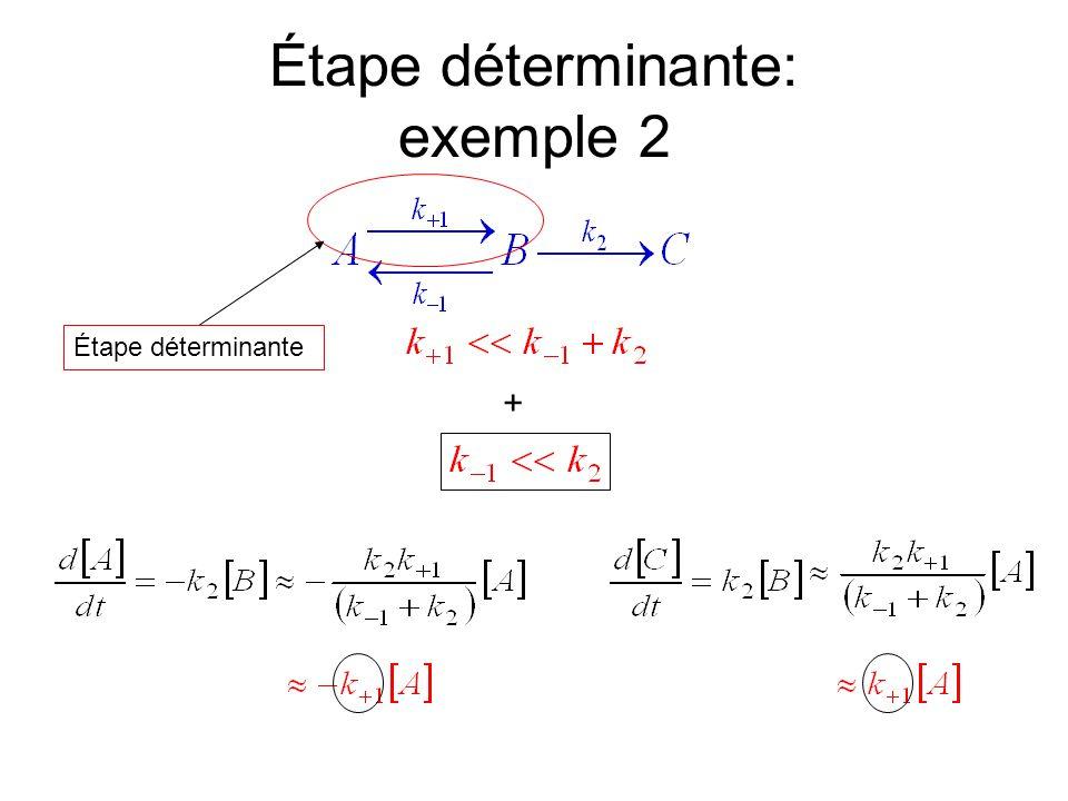 Étape déterminante: exemple 2 + Étape déterminante =Étape « lente »