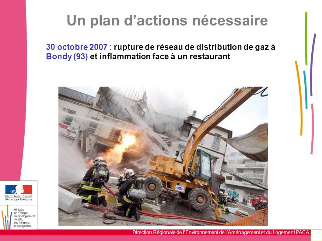 Direction Régionale de l'Environnement de l'Aménagement et du Logement PACA 30 octobre 2007 : rupture de réseau de distribution de gaz à Bondy (93) et