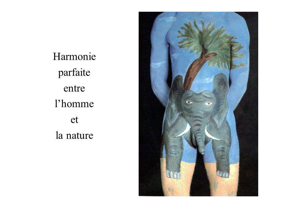 Harmonie parfaite entre l'homme et la nature