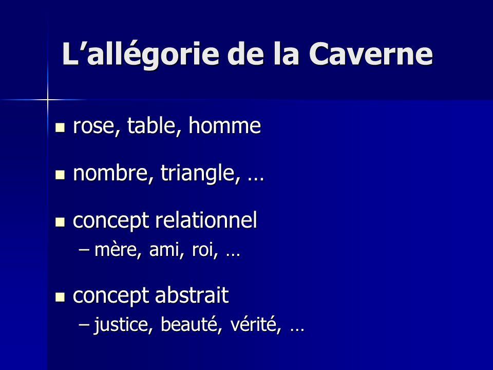 rose, table, homme rose, table, homme nombre, triangle, … nombre, triangle, … concept relationnel concept relationnel –mère, ami, roi, … concept abstr